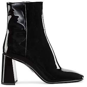 Prada Women's Patent Leather Ankle Boots
