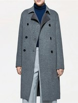 Calvin Klein Platinum Wool Cashmere Long Trench Coat