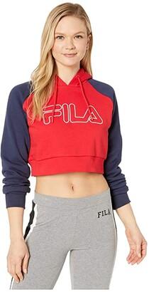 Fila Valeria Hoodie (Amparo Blue/Magenta) Women's Sweatshirt