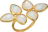 Dee Berkley Gemstone Flower Ring Moonstone