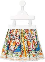 Dolce & Gabbana Majolica print skirt