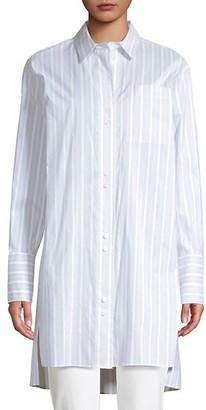 Lafayette 148 New York Marvin Oversized Striped Boyfriend Shirt