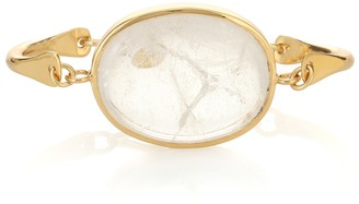 Tohum Design Theia 24kt yellow gold-plated bracelet with a rock crystal