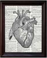"Fresh Prints of CT Anatomical Human Heart - Printed on Upcycled Vintage Dictionary Paper - 8""x11"" Anatomy Art Poster / Print"