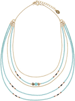 Accessorize Beaded Layered Round Necklace