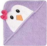 Luvable Friends Lilac Penguin Terrycloth Hooded Towel