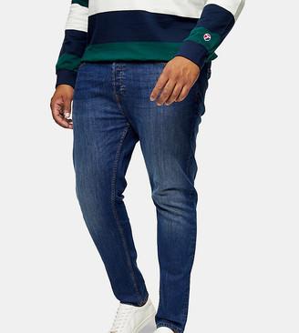 Topman Big & Tall super skinny jeans in mid wash blue