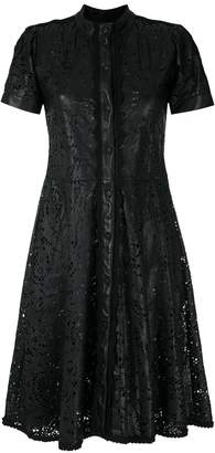 Andrea Bogosian cut out pattern leather dress