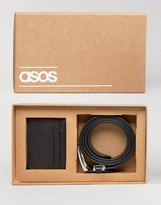 Asos Gift Set With Leather Belt and Cardholder