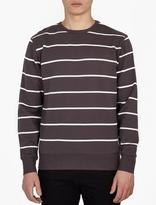 Saturdays Surf NYC Grey Striped 'Bowery' Sweatshirt