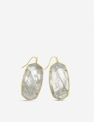 Kendra Scott Faceted gold-plated brass earrings