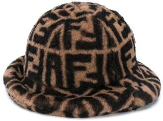 Fendi Kids Monogram Print Hat