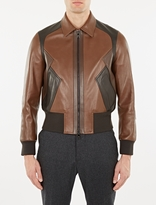 Neil Barrett Brown Modernist Leather Jacket