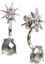 lonna & lilly Silver-Tone Star and Stone Front Back and Back Earrings