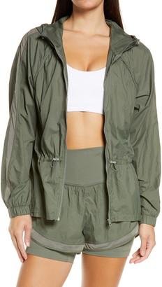 Zella Fresh Air Hooded Lightweight Nylon Jacket