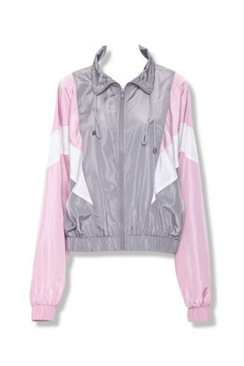 Forever 21 Colorblock Drawstring Windbreaker