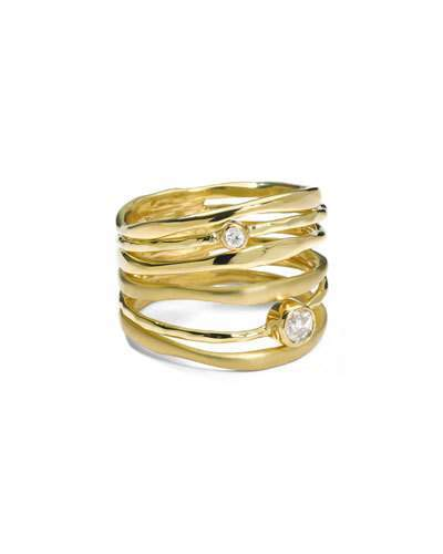 Ippolita 18K Gold Stardust Movie Star Six-Band Ring with Diamonds