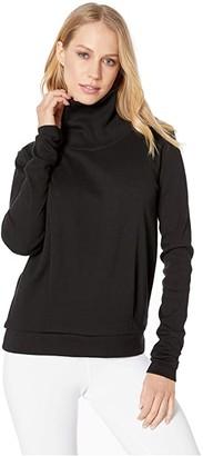 Alo Clarity Long Sleeve (Black) Women's Long Sleeve Pullover