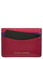 Marc Jacobs Women's Color Block Saffiano Leather Card Case - Purple