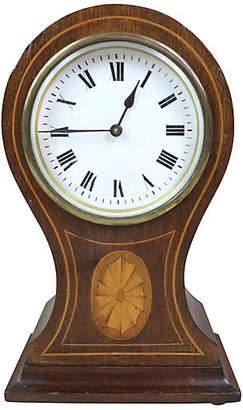 One Kings Lane Vintage English Edwardian Mantel Clock - Schorr & Dobinsky
