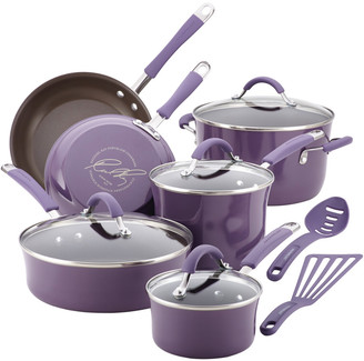 Rachael Ray Cucina Hard Porcelain Enamel Nonstick 12Pc Cookware Set
