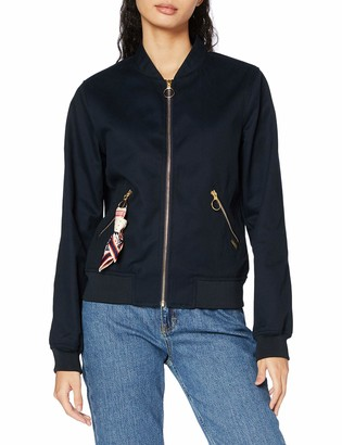 Scotch & Soda Women's Clean Bomber in Structured Cotton Quality Jacket
