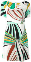 Emilio Pucci printed fitted dress - women - Silk/Spandex/Elastane/Viscose - 44