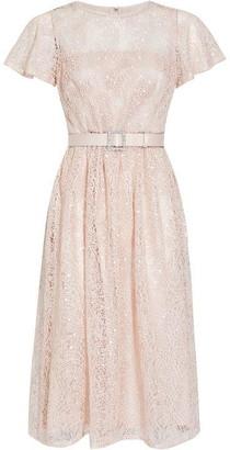 Adrianna Papell Dot Sequin Short Dress