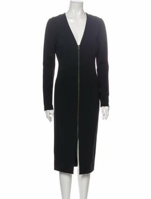 Veronica Beard V-Neck Midi Length Dress Black