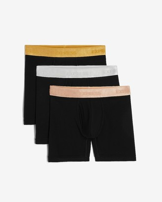 Express 3 Pack Metallic Waistband Boxer Briefs