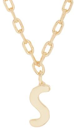 Kate Spade S script letter pendant necklace