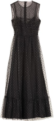 RED Valentino Glitter Polka Dots Tulle Dress