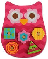 Stephen Joseph Shaped Wooden Peg Puzzle - Owl