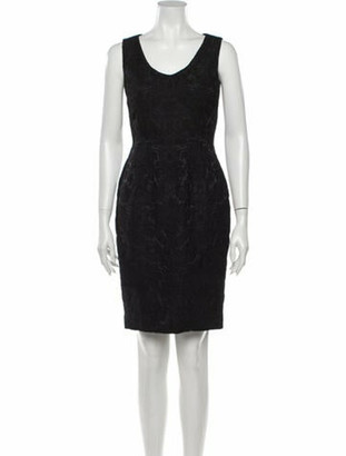 Dolce & Gabbana Lace Pattern Knee-Length Dress Black