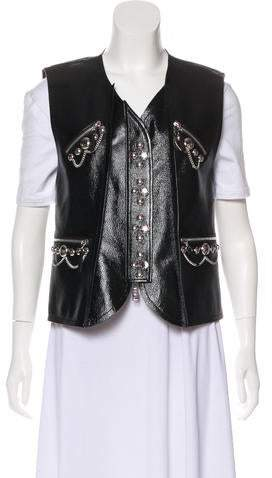 442febe395e 2018 Patent Leather Vest