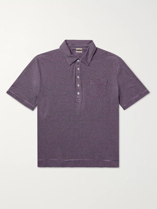 Massimo Alba Striped Cotton And Linen-Blend Polo Shirt