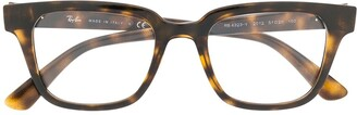 Ray-Ban Tortoise-Shell Square Glasses