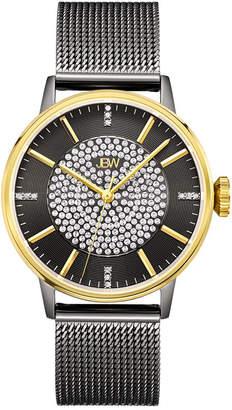 JBW 1/8 C.T. T.W. Diamond Womens Black Stainless Steel Bracelet Watch-J6339d