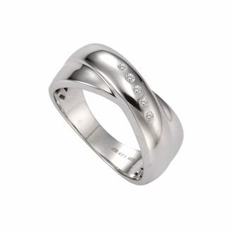 Celesta Diamonds 312270014-0 Women's Ring - 925/1000 Sterling Silver with 0.05-Carat Diamonds - 5.70 g white