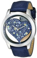 GUESS Women's U0113L8 Iconic Blue Watch with Heart Inspired Dial