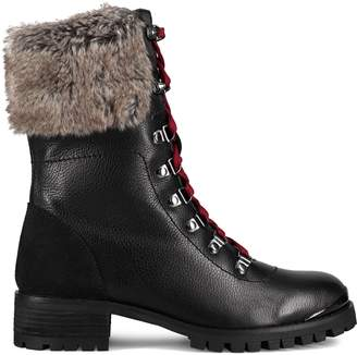Santana Canada Downtown Novella Faux Fur-Trim Leather Boots