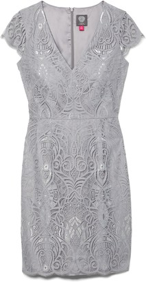 Vince Camuto Lace V-Neck Dress
