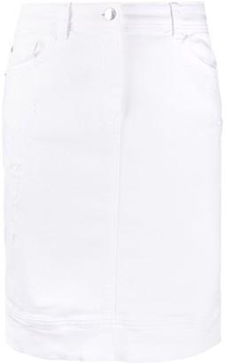Emporio Armani Distressed Denim Pencil Skirt