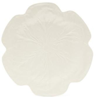Bordallo Pinheiro Cabbage Earthenware Dinner Plate - White