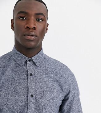 ASOS DESIGN Tall regular fit flannel shirt in navy