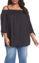 Caslon R) Off the Shoulder Blouse (Plus Size)