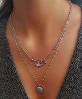 Chamay Women's Necklaces Silver - Crystal & Silvertone Round Evil Eyes Layered Pendant Necklace