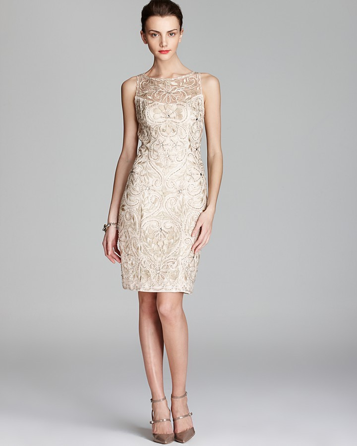 Sue Wong Embroidered Dress - Beaded