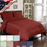 Veratex MADE IN THE USA 500TC 100% Cotton Sateen Duvet and Sham Set, Ivory, California King