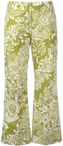 Fay printed cropped trousers - women - Cotton - 40